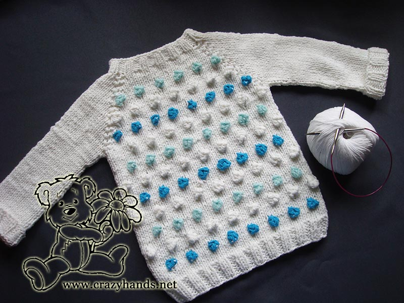 Baby Raglan Sweater Pattern: Seamless, Bottom-Up · Crazy Hands Knitting