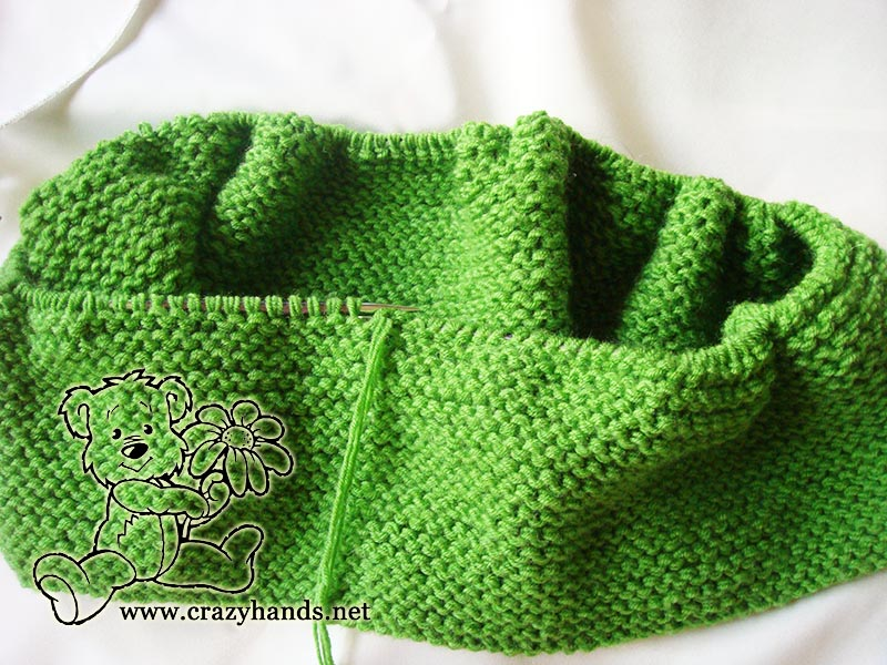 Shamrock Green Infinity Scarf Knitting Pattern Crazy Hands Knitting
