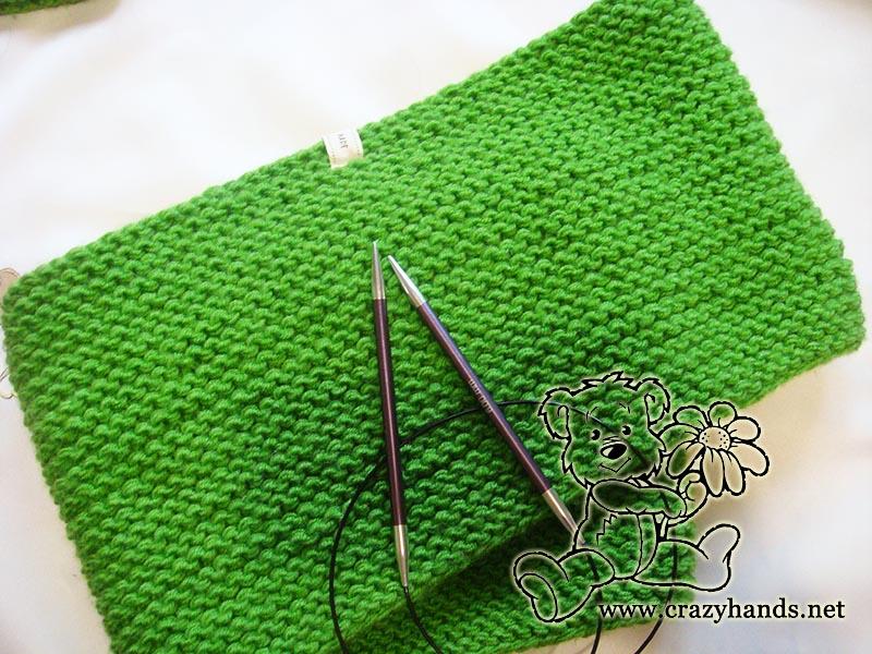 Shamrock Green Infinity Scarf Knitting Pattern Crazy Hands Knitting