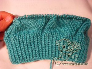 3-4 cm body of the cable knit hat