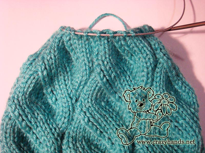 Azure Cable Hat Knitting Pattern Crazy Hands Knitting