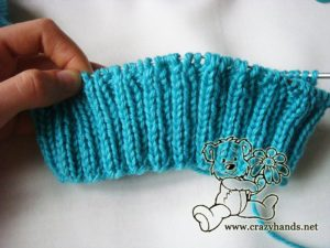 6 cm ribbing of the simple knit hat pattern