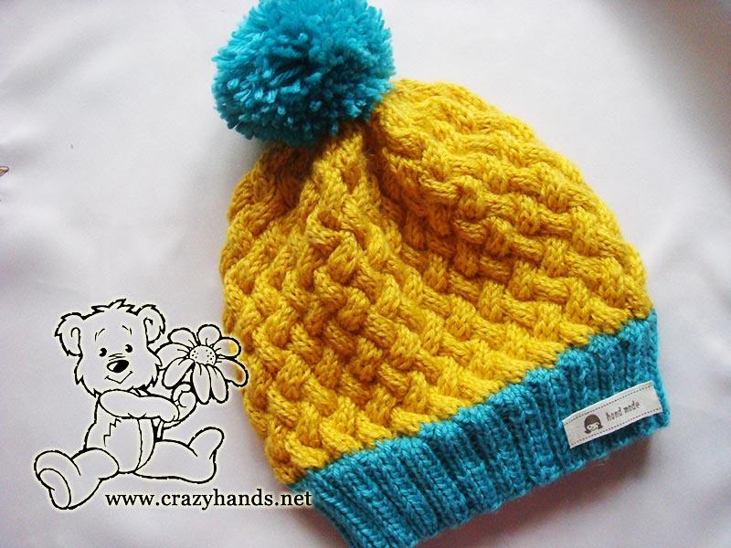 Swedish style set: simple knit hat pattern