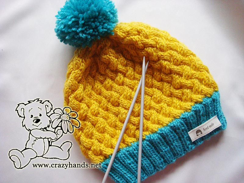 Simple Knit Hat Pattern (Swedish-Styled Set) · Crazy Hands Knitting