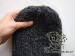 finished men's knit hat