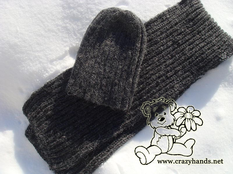 Men\'s knit scarf pattern & men\'s slauchy hat pattern · Crazy Hands ...