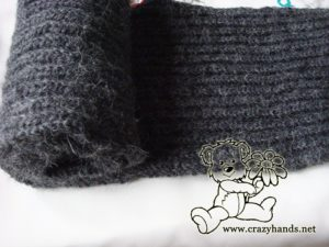 men's knit scarf pattern