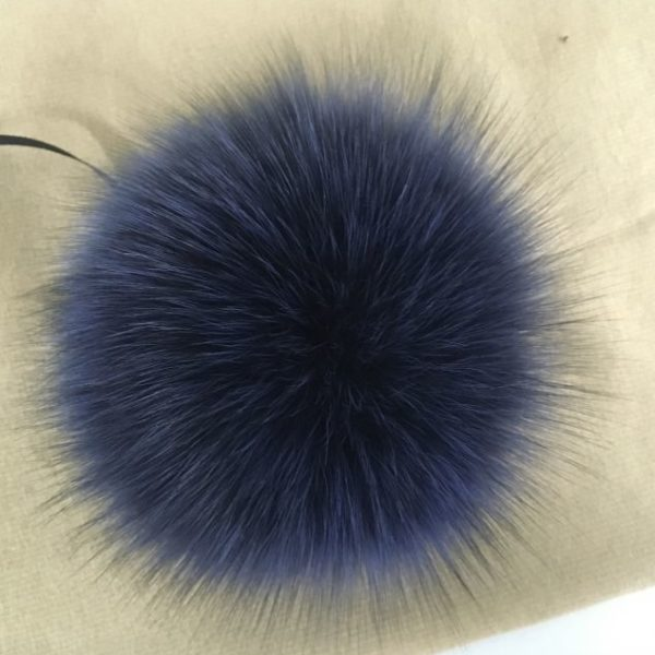 blue arctic fox pom pom