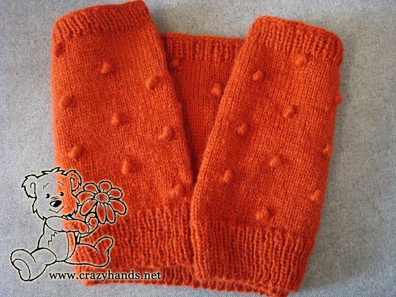Knitted Cowl Pattern Carrot Orange Crazy Hands Knitting