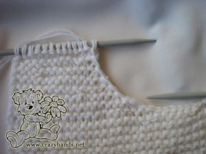 shaping a neckline of the oversized knit sweater - step #11