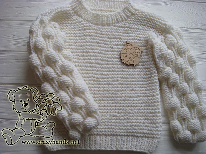 Oversized Knit Sweater Pattern With Bobbles Crazy Hands Knitting