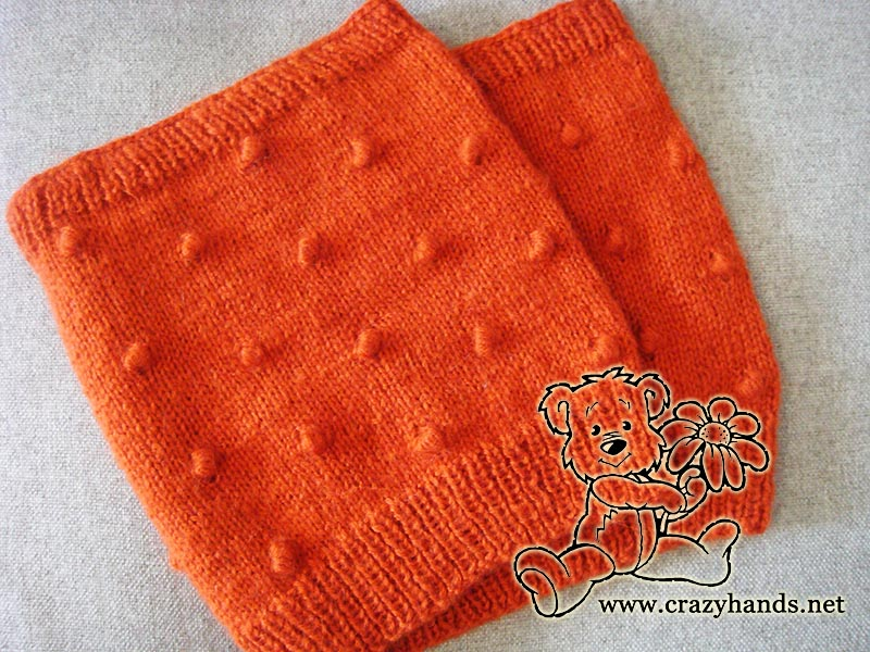 Carrot Orange Knitted Cowl Pattern