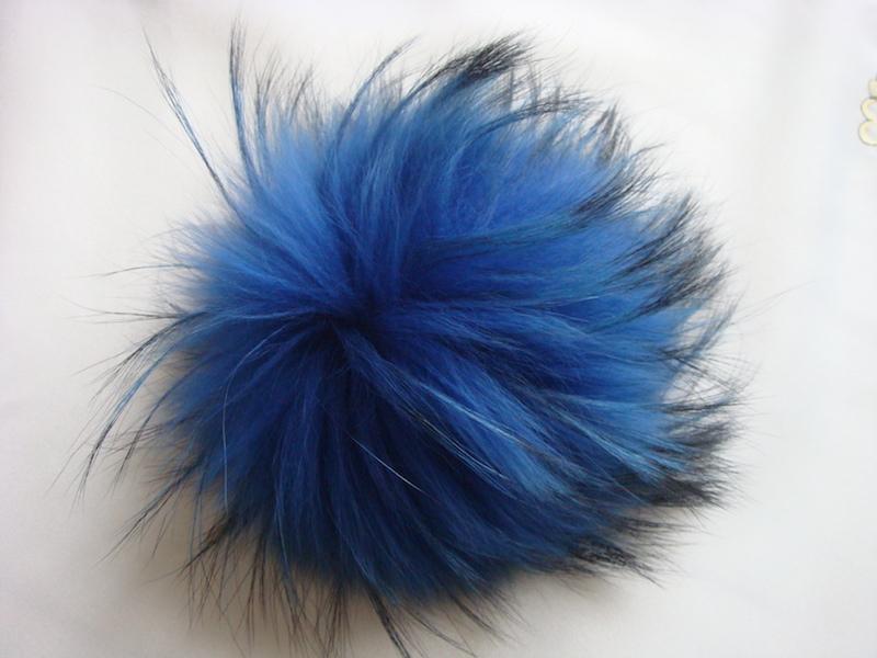 Navy Blue pom pom