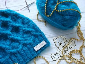 Diamond knit cable hat pattern