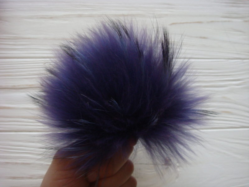 Purple pom pom