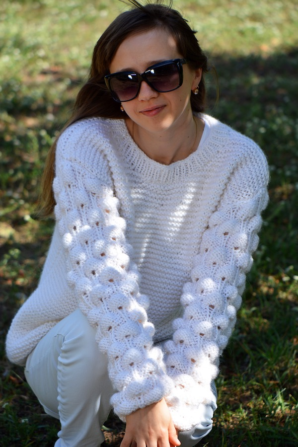 9551e1646 Oversized Knit Sweater Pattern for Adults · Crazy Hands Knitting