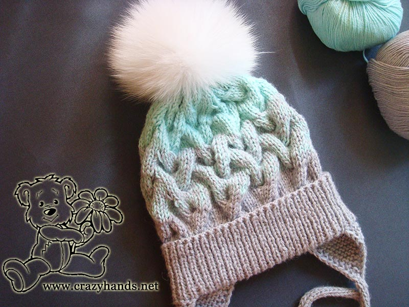 Baby Hat Knitting Pattern with Earflaps & Gradient · Crazy Hands ...