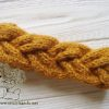 Braided knitting headband