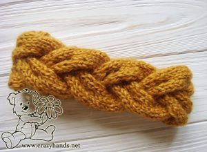 Braided knitting headband