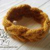 Braided Knitting Headband - side view