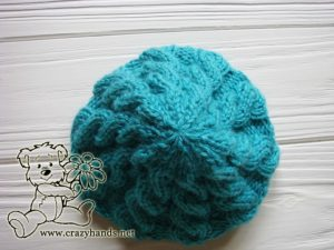 Crown of the Newborn Blue Primrose Knit Hat