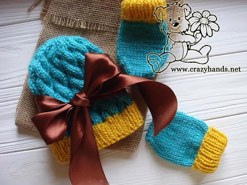 9bdae334b0f Blue Primrose Baby Knitting Hat Pattern · Crazy Hands Knitting