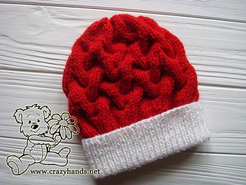 santa-cable-knit-hat-for-babies
