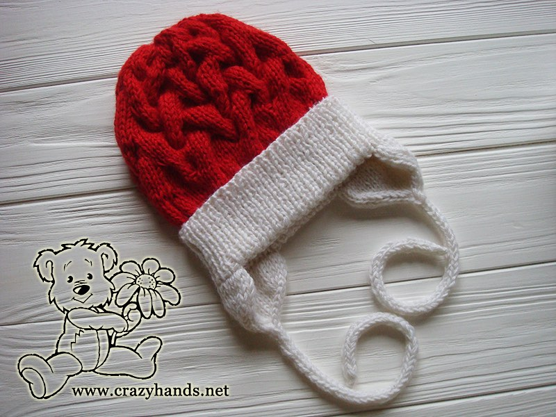 Little Santa Set: Winter Baby Cable Knit Hat Pattern