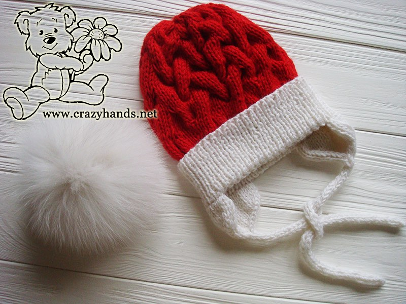 santa-cable-knit-hat-baby-earfalps-fur-pom