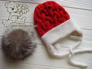 santa-cable-knit-hat-baby-earflaps-fur-pom-pom