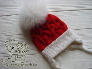 santa-cable-winter-knit-hat-baby-earflaps