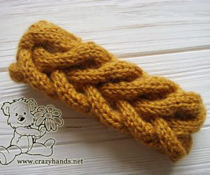 Honey-Butterscotch Knit Ear Warmers