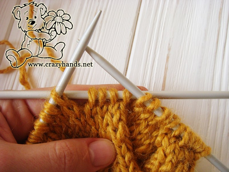 Step 1 - Cable 4 Back Stitch Honey-Butterscotch Ear Warmers