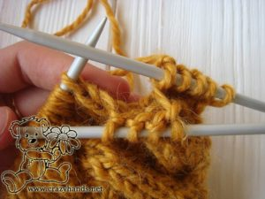 Step 1 - Cable 4 Front Stitch Honey-Butterscotch Ear Warmers