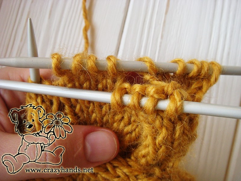 Step 2 - Cable 4 Front Stitch Honey-Butterscotch Ear Warmers