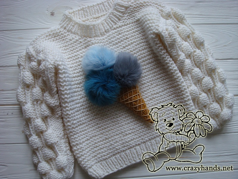 knit ice cream on the oversized knit sweater - photo 1