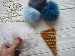 Stuff the cone with hollow fiber or cotton wool