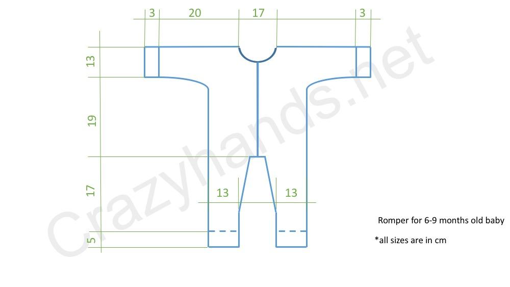 Bear Baby Knit Romper Pattern (Garter Stitch)