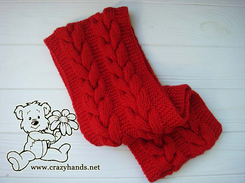 Little Santa Set Winter Baby Cable Knit Infinity Scarf Pattern