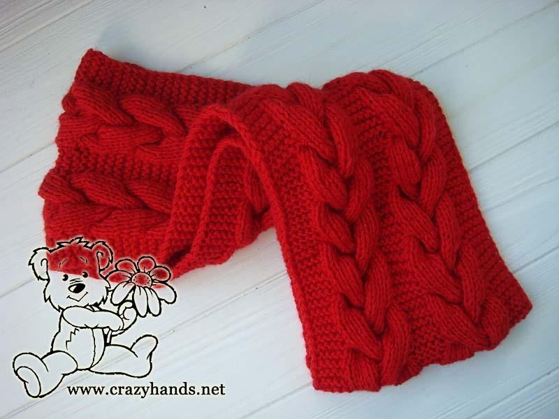 folded infinity santa cable knit scarf - photo 2
