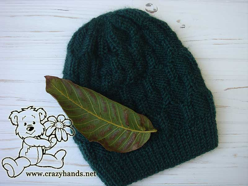 Emerald Liffey Knit Cable Hat for Men