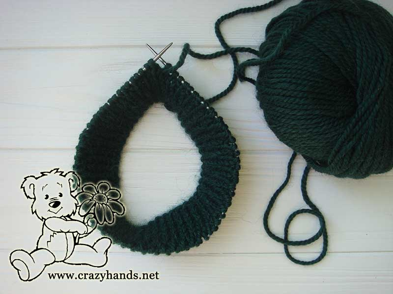 Ribbing part for the men's knit hat