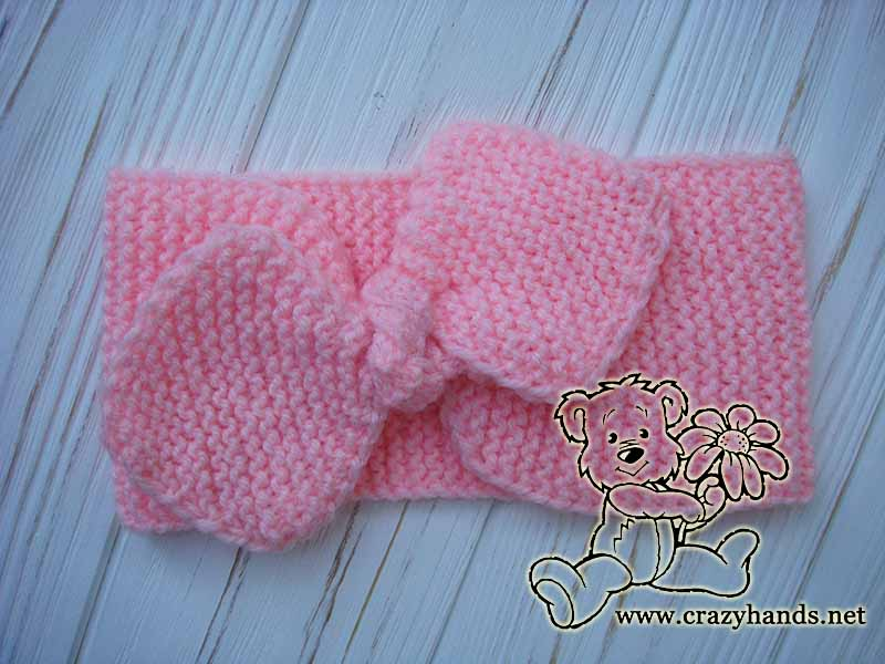 ready knit bow headband