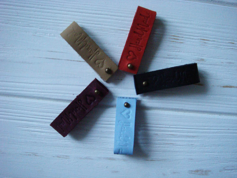 Real Leather Labels - HandMade