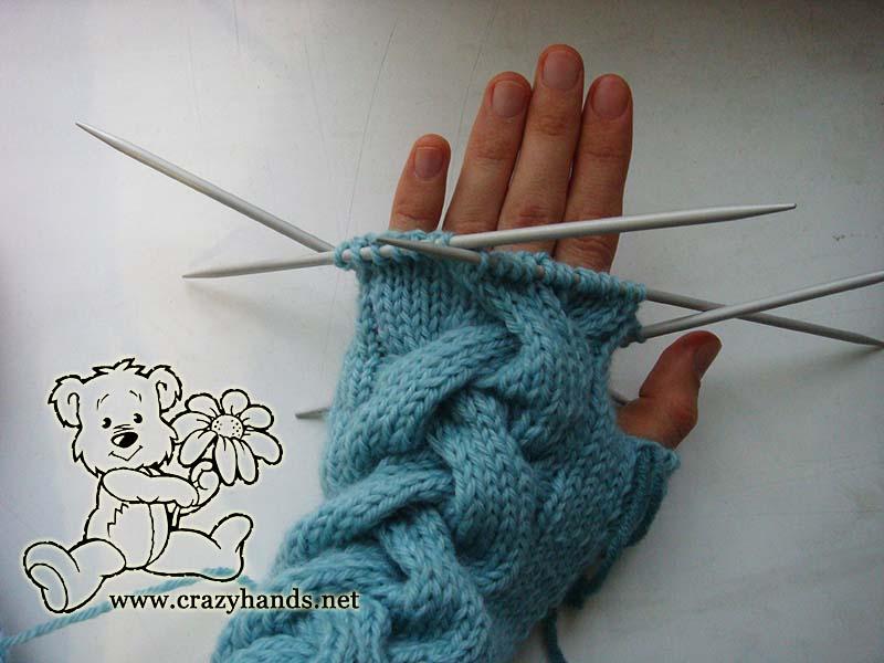 Body part of the fingerless gloves