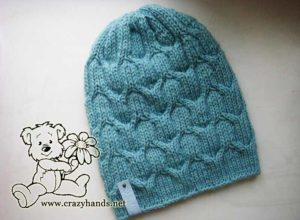 DIY knit cable hat