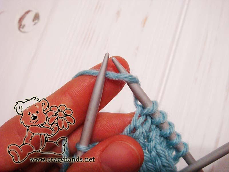 yarn over left