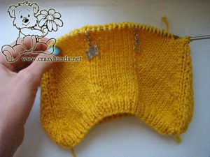 Knit pixie baby hat - back part