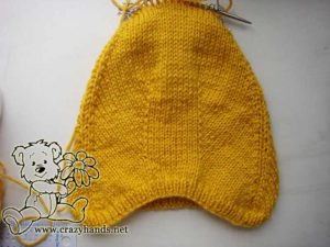 Knit pixie baby hat - decreases