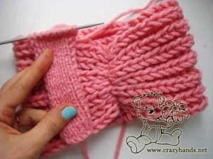 Knit ring for the fishermans rib headband